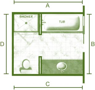 Bathroom Plans on Bathroom Floor Plan
